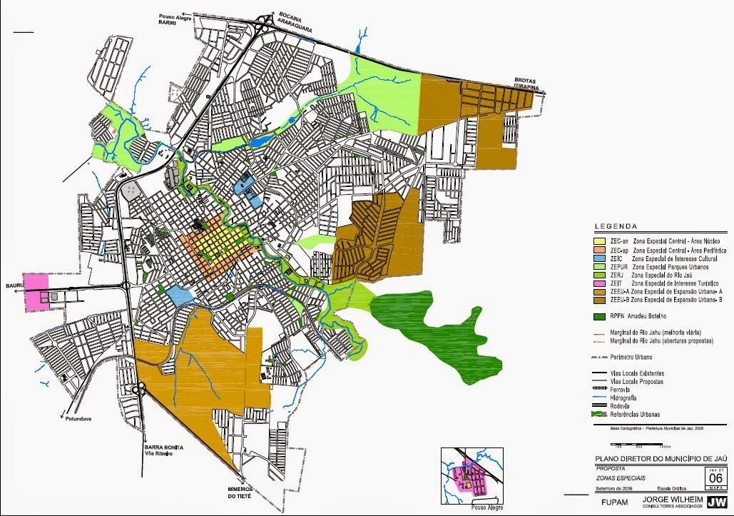 Mapa da Cidade de Jaú – PDF Vetor